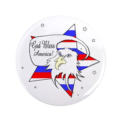 """American Eagle Christian 3.5"""" Button (100 pack)"""