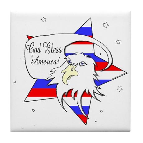 American Eagle Christian Tile Coaster