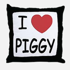 I heart Piggy Throw Pillow