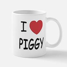 I heart Piggy Small Mugs