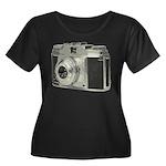 Vintage Camera Women's Plus Size Scoop Neck Dark T