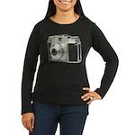 Vintage Camera Women's Long Sleeve Dark T-Shirt