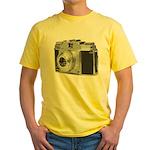 Vintage Camera Yellow T-Shirt