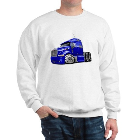 Peterbilt 587 Blue Truck Sweatshirt