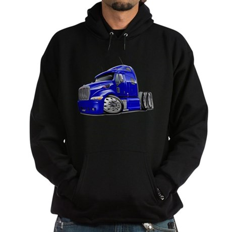 Peterbilt 587 Blue Truck Hoodie (dark)