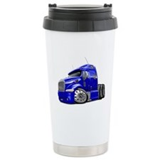 Peterbilt 587 Blue Truck Travel Mug
