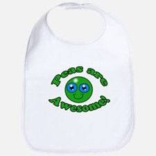 Peas are awesome Bib