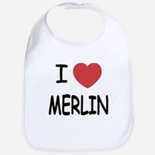 I heart Merlin Bib