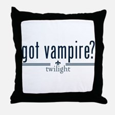 Got Vampire? by Twibaby Throw Pillow