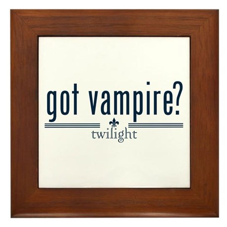Got Vampire? by Twibaby Framed Tile