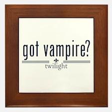 Got Vampire? by Twibaby Framed Tile