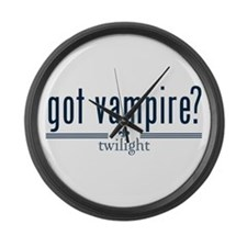 Got Vampire? by Twibaby Large Wall Clock