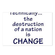 Destruction is Change Postcards (Package of 8)