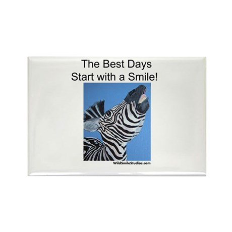 The Best Days Start with a Sm Rectangle Magnet