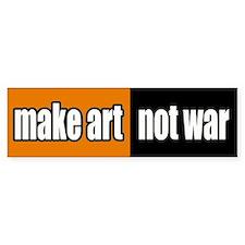 Make Art Not War Peace Bumper Bumper Sticker