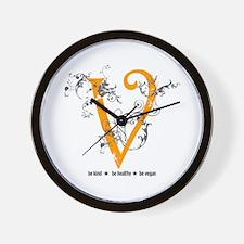 Be vegan Wall Clock