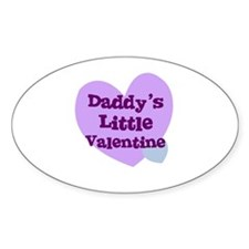 Daddy's Little Valentine Oval Decal