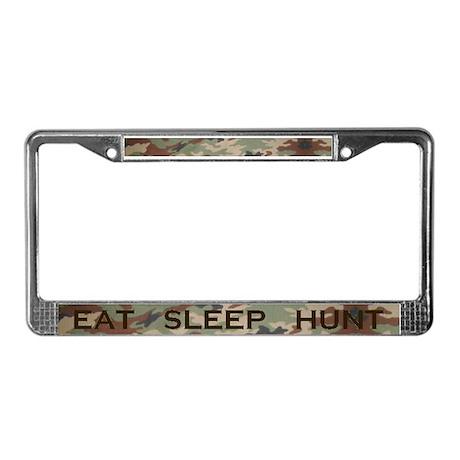 EAT SLEEP HUNT License Plate Frame