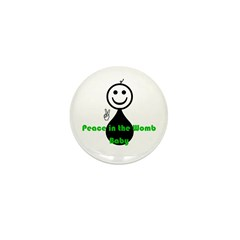 Peace Baby Mini Button (10 pack)