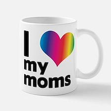 I love my moms Small Mugs