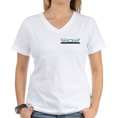 WOW Women's V-Neck Tee