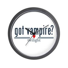 got vampire? with heart by twibaby Wall Clock