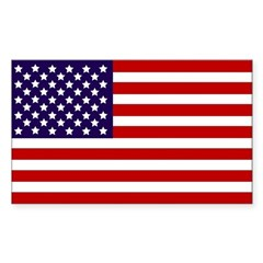 American Flag Sticker (Rectangular)
