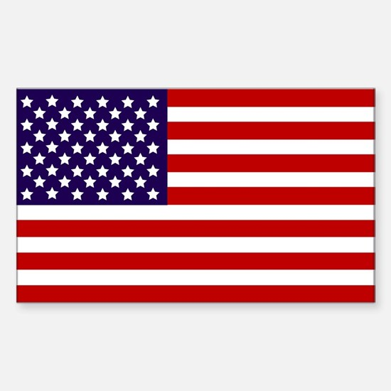 American Flag Sticker (Rectangular)
