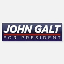 John Galt for President Car Car Sticker