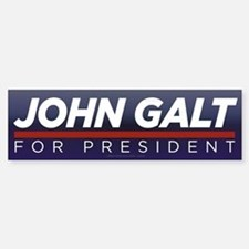 John Galt for President Sticker (Bumper)