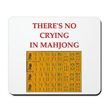 i love mahjong Mousepad