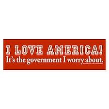 Love America! Bumper Bumper Sticker