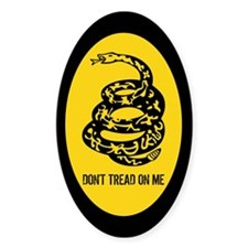 """Don't Tread on Me"" Gadsden Flag Oval Decal"