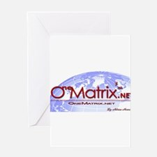 OneMatrix.net (Red) Greeting Card