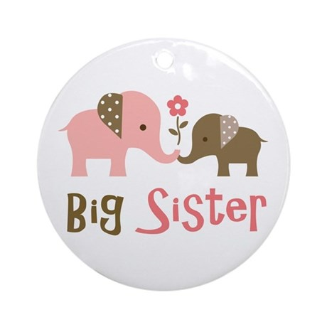 Big Sister - Mod Elephant Ornament (Round)