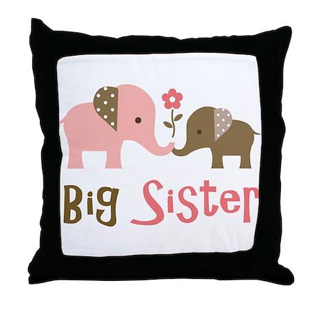 Big Sister - Mod Elephant Throw Pillow