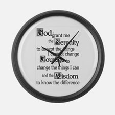 SERENITY PRAYER Large Wall Clock