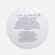 Mother of a Handicapped Child Ornament (Round)