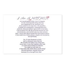 Mother of a Handicapped Child Postcards (Package o