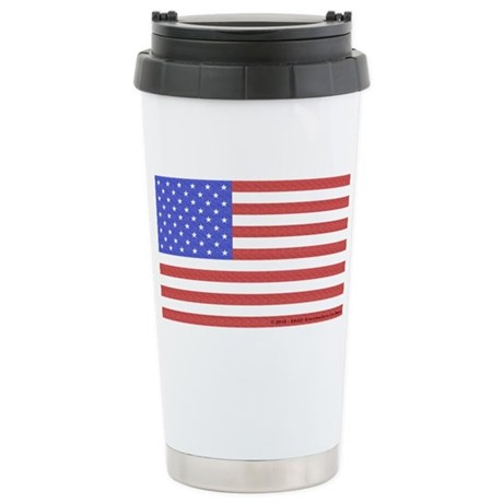 All American Flag Stainless Steel Travel Mug