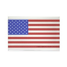 All American Flag Rectangle Magnet