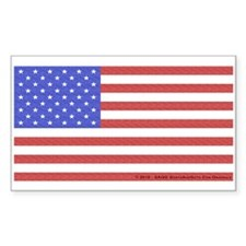 All American Flag Sticker (Rectangle)