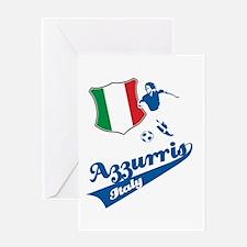 Italian soccer Greeting Card