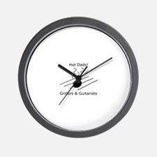 Hot Dads-Grillers & Guitarist Wall Clock
