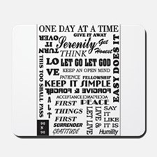 12 STEP SLOGANS Mousepad
