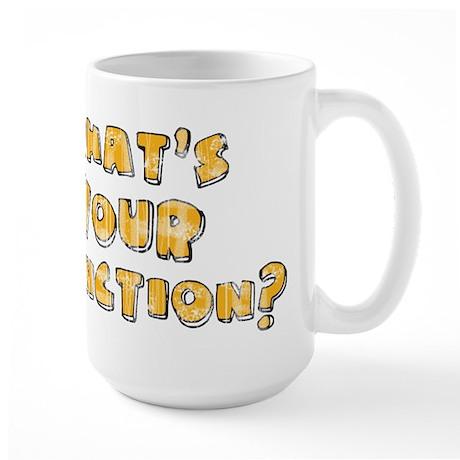 Whats Your Function Orange on Large Mug