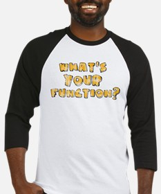 Whats Your Function Orange on Baseball Jersey