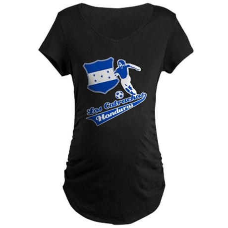 Honduran soccer Maternity Dark T-Shirt