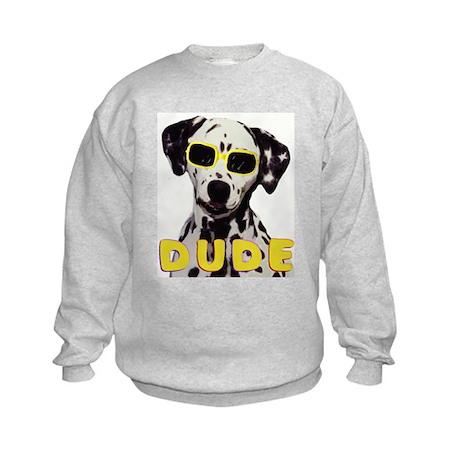 dalmatian dude Kids Sweatshirt