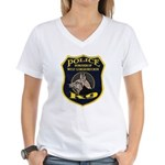 West Conshohocken Police K9 Women's V-Neck T-Shirt